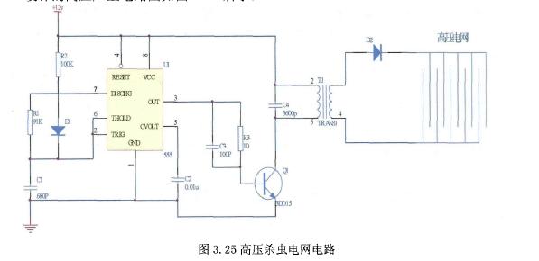 在变压器的次级可感应出高压脉冲,经过内部硅整流二极管整流可输出近