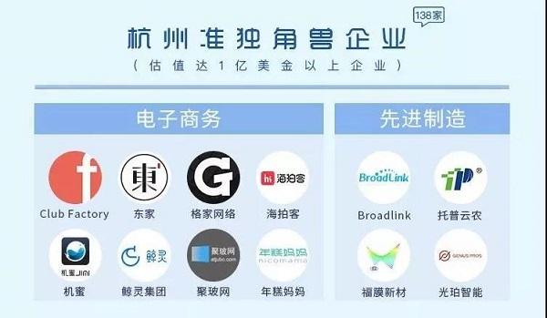 杭州市准独角兽名单
