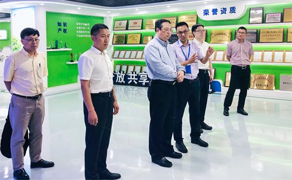 杭州市副市长王宏一行莅临万博怎么下载云农调研